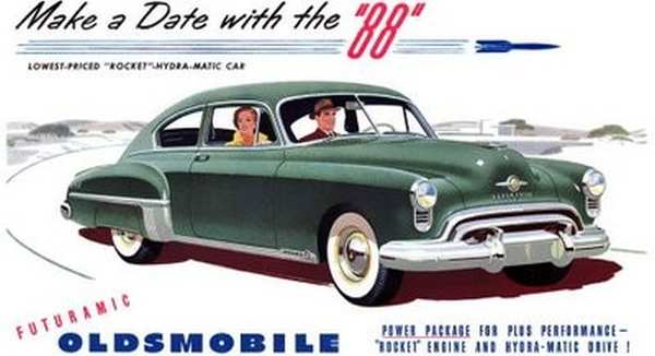 1950 Oldsmobile Rocket 88 Adverts 11