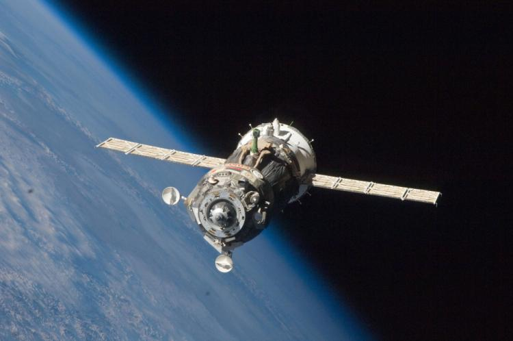 Soyuz TMA 19 spacecraft departs the ISS